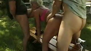 Hungarian asshole gaped by french men