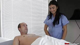 Horny Guys Cock Becomes Hard &, Thick During Massage