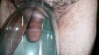 Japanese old man shows penis