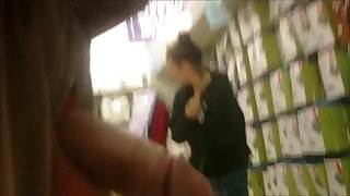 Dick out in public store 3 - she likes it