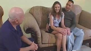 Pretty and skinny wife throat fucked and screwed