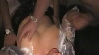 Wife fucked by 16 men at home
